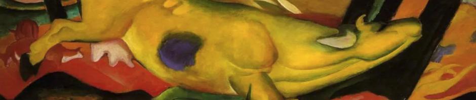 Die Glebe Kuh, abstraktes Bild Franz Marc